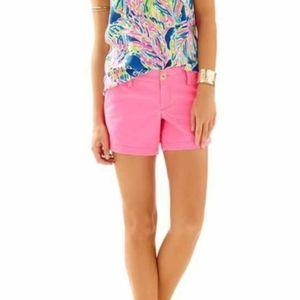 Lilly Pulitzer Pink Callahan Shorts Size 4